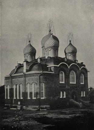 Новый храм в честь Казанской Божей Матери. Занимает центральное место в пустыни.