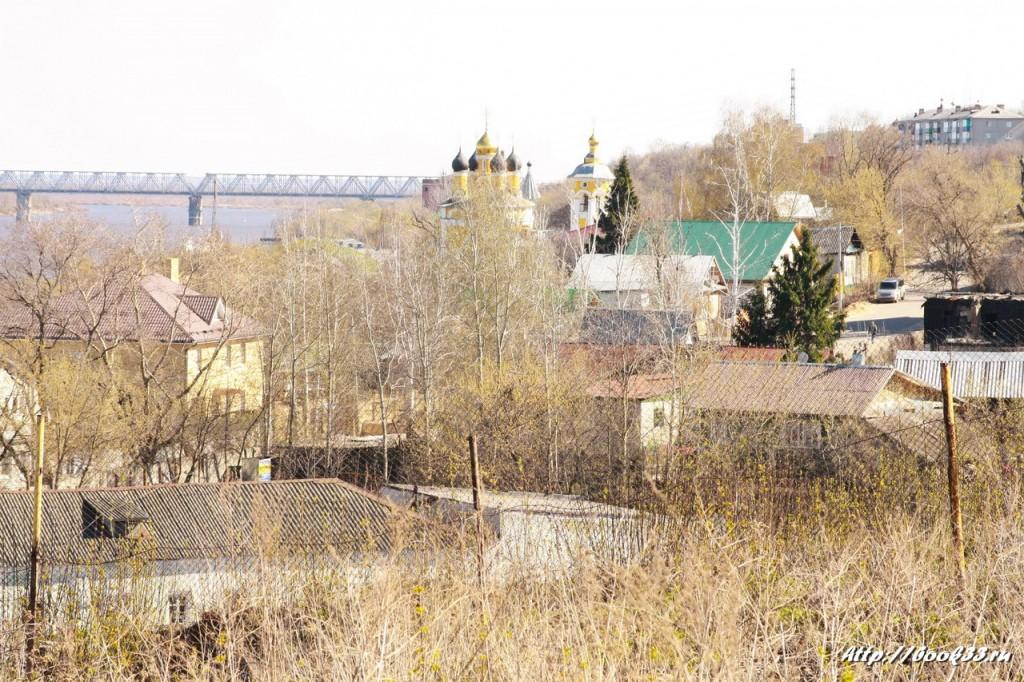 Виды Николо-Набережной церкви Мурома. Вид из Воскресенского монастыря Мурома
