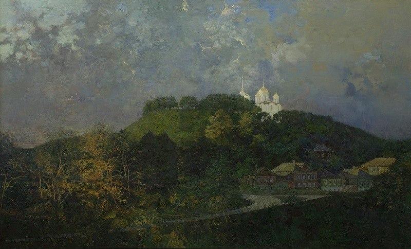 Город Владимир на картине Изотова - Соборный холм. 2005 г.