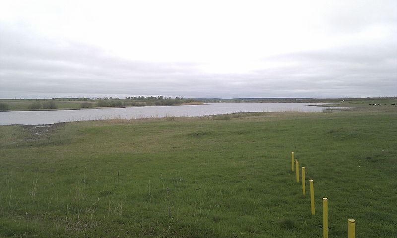 Запруда на реке Куница вблизи села Андреевское