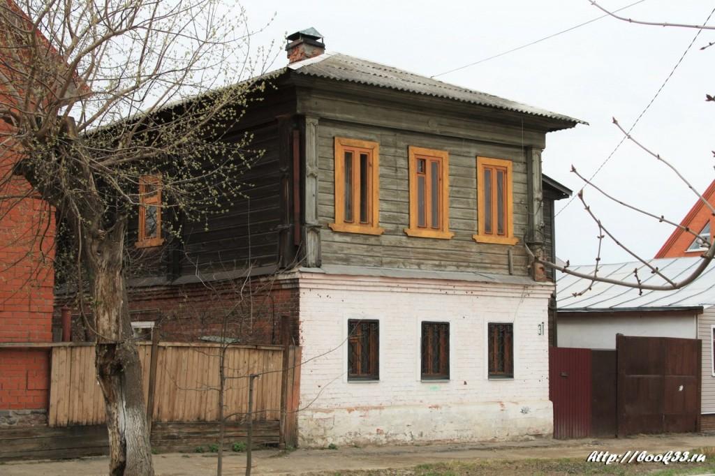 Муром, ул. Первомайская, 31. Дом мещанина Серебренникова XX в. Местного знчения