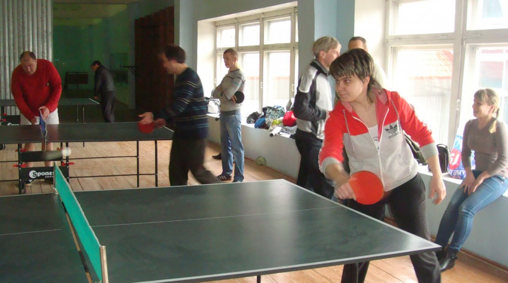 Турнир по настольному теннису на Вербовском