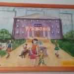 Школьный вернисаж в Школе 18 г. Мурома. Коптилин6а Юлия - Я поведу тебя в музей (акварель)