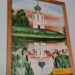 Школьный вернисаж в Школе 18 г. Мурома. Малышева Мария - Церковь Покрова-На-Нерли (гуашь)