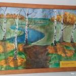 Школьный вернисаж в Школе 18 г. Мурома. Масленникова Татьяна - Осень (гуашь)