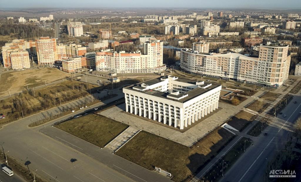 Владимир с высоты птичьего полета. Здание администрации