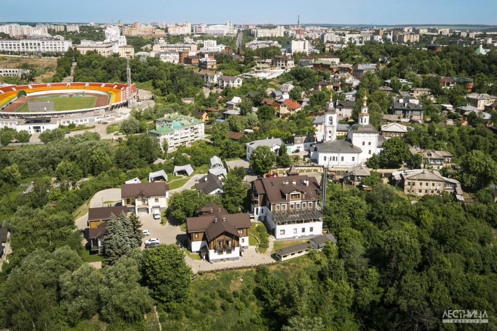Город Владимир с высоты птичьего полета.