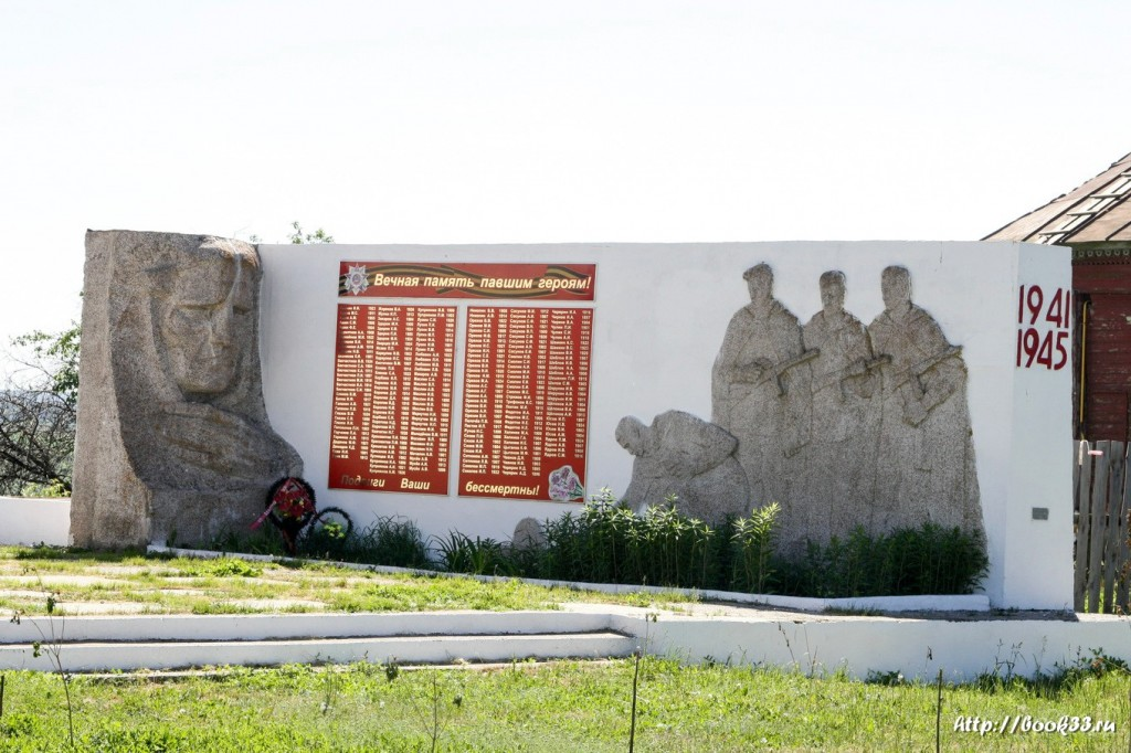 Мемориал памяти погибшим в ВОВ. Панфилово Муромский район