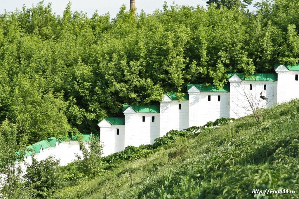 3747 Декорации Спасо-Преображенского монастыря в Муроме. Стены и лес