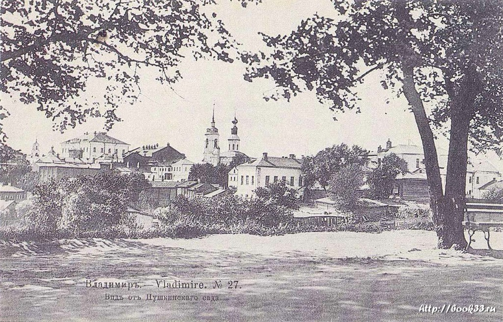 Владимир в старой фотографии. Вид с Пушкинского сада
