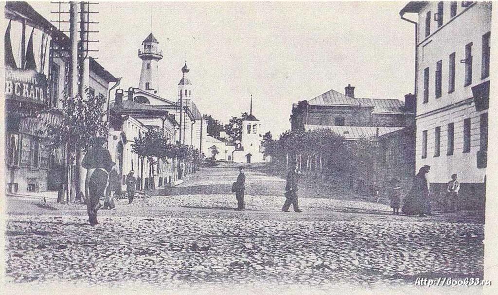 Владимир. Спасская улица в старой открытке