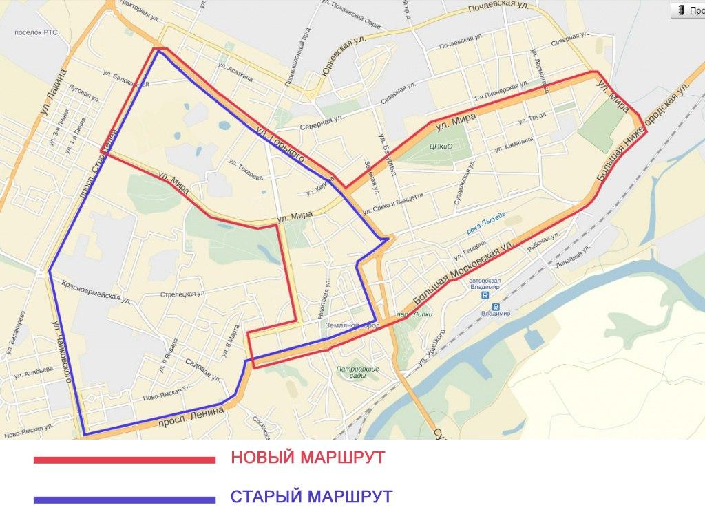 Новые маршруты во Владимире