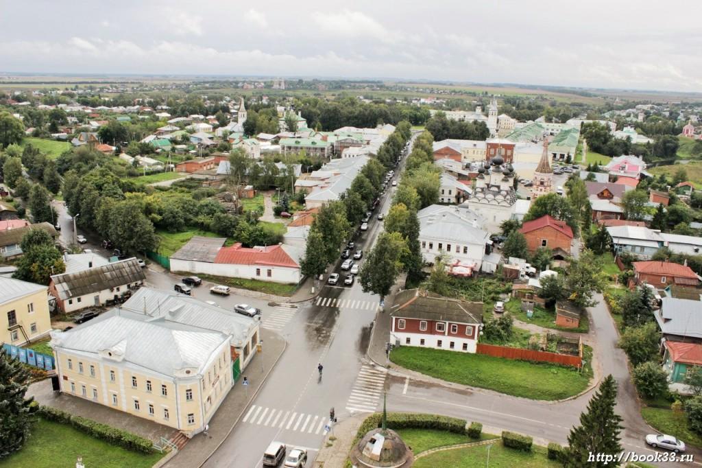 Главная улица Суздаля с высоты птичьего полета