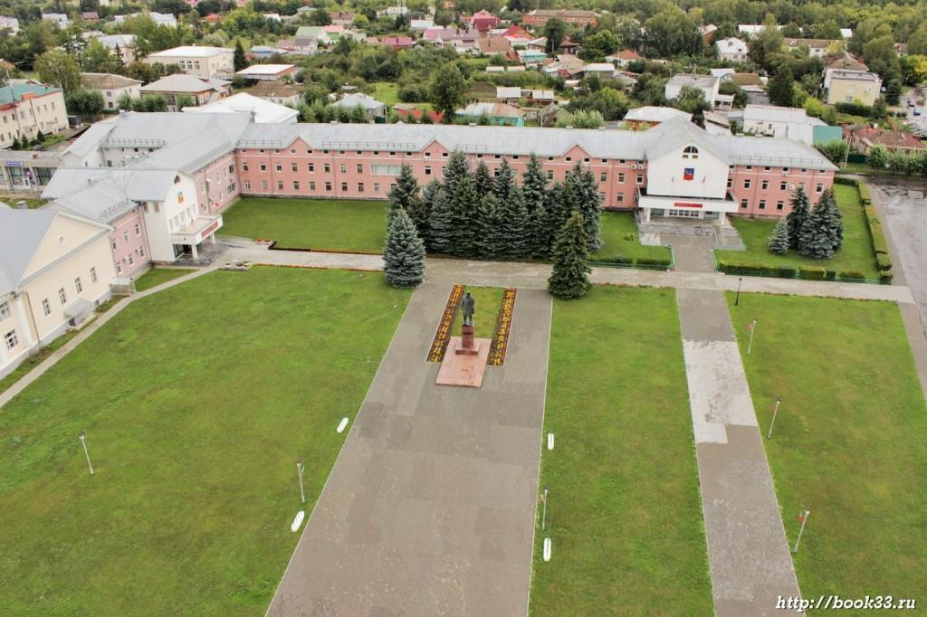 Красная площадь Суздаля с высоты