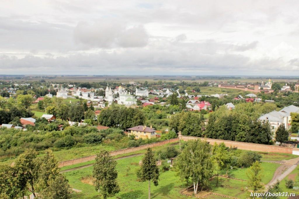 Суздаль с высоты птичьего полета - Спасо-Евфимиев монастырь и Покровский монастырь