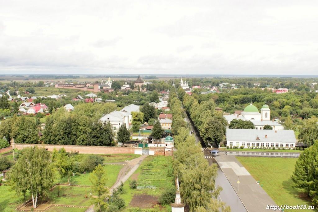 Суздаль с высоты - улица Ленина и Спасо-Евфимиев монастырь