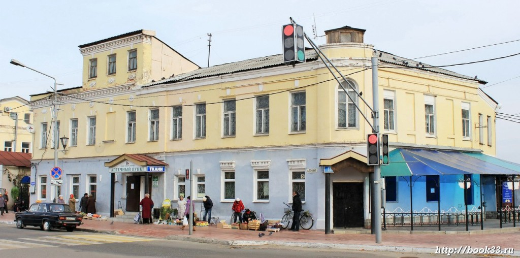 Муром, улица Советская 11 УСАДЬБА ТАГУНОВА, XIX В.