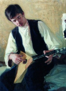 Б.М.Кустодиев. Портрет И. Куликова