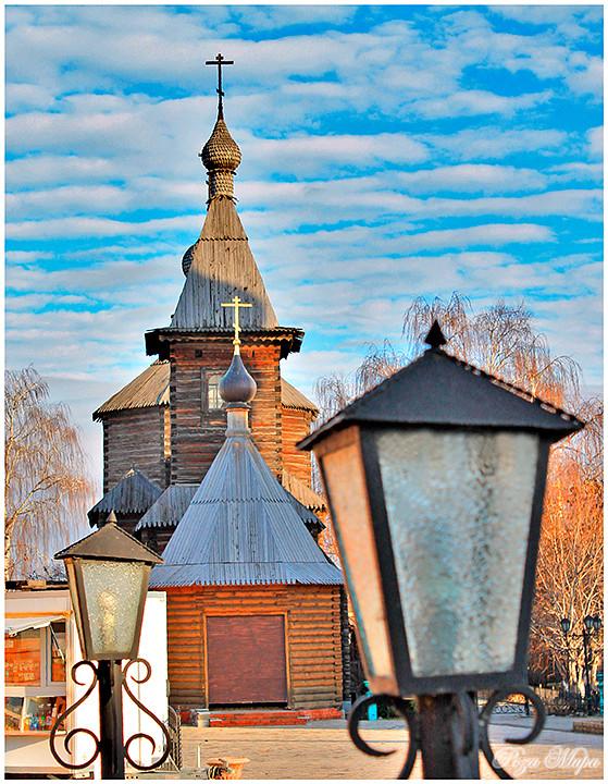 Деревянная церковь преподобного Сергия Радонежского (Муром, Троицкий монастырь). Фотограф - Николай Тараканов