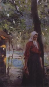 Серов - Женщина с крынкой