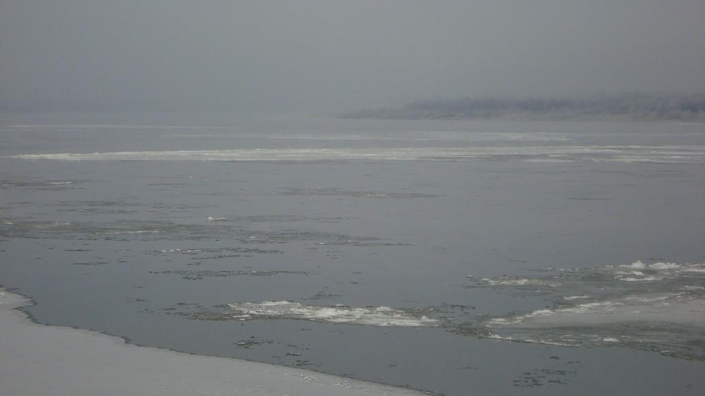 Очень морозный Муром. Осенний ледоход 04
