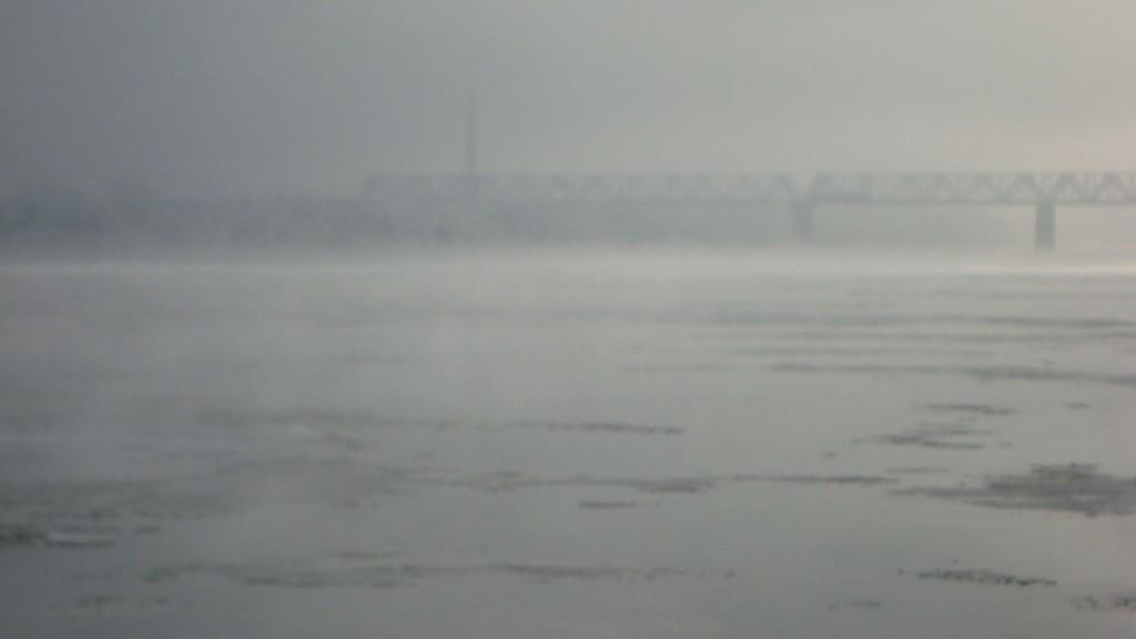 Очень морозный Муром. Осенний ледоход 05