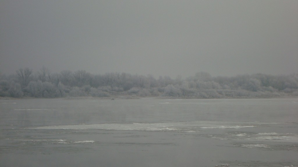 Очень морозный Муром. Осенний ледоход 09