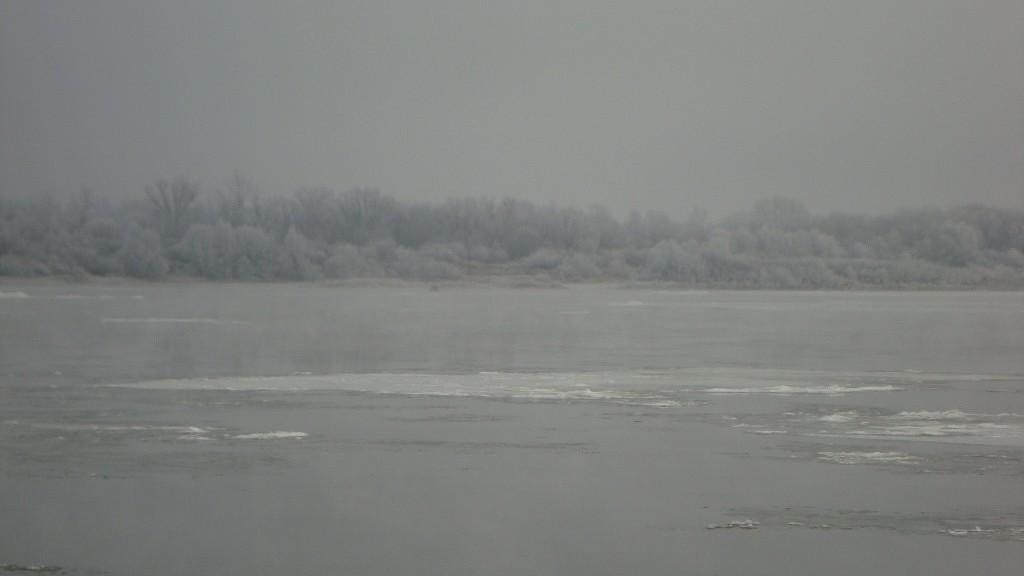 Очень морозный Муром. Осенний ледоход 10