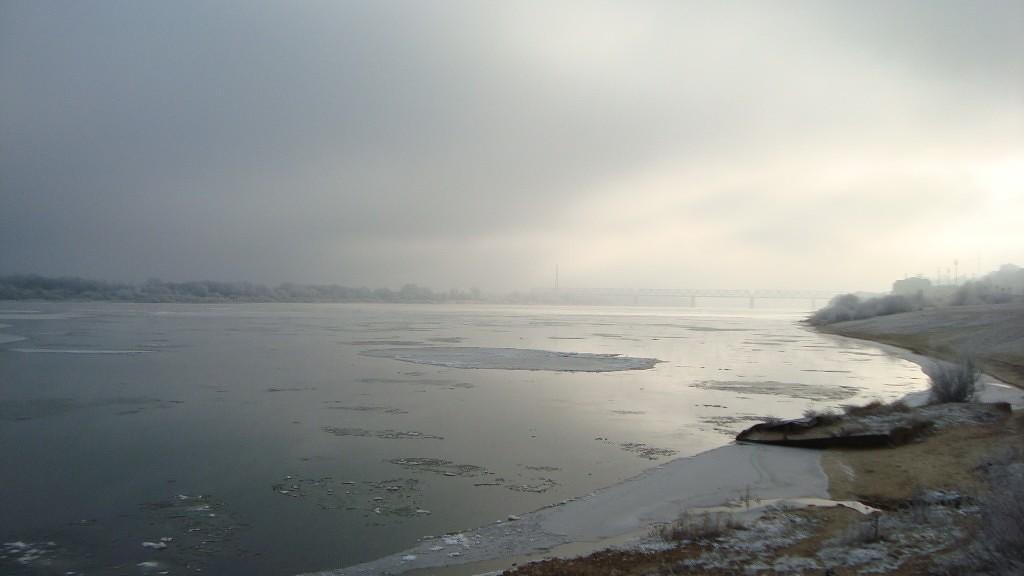 Очень морозный Муром. Осенний ледоход 12