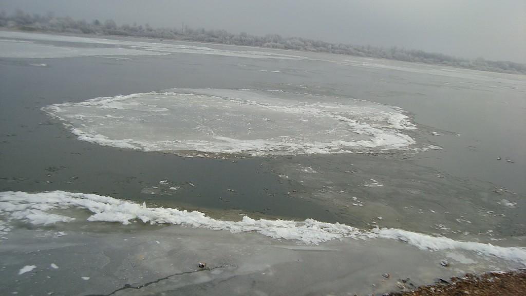 Очень морозный Муром. Осенний ледоход 13