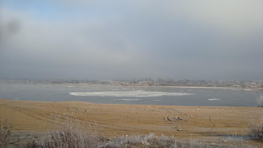 Очень морозный Муром. Осенний ледоход 16