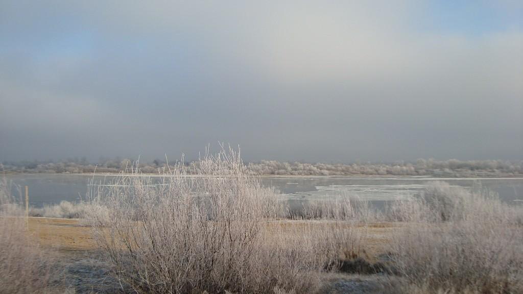 Очень морозный Муром. Осенний ледоход 17