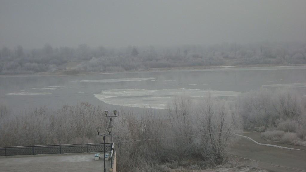 Очень морозный Муром. Осенний ледоход 19