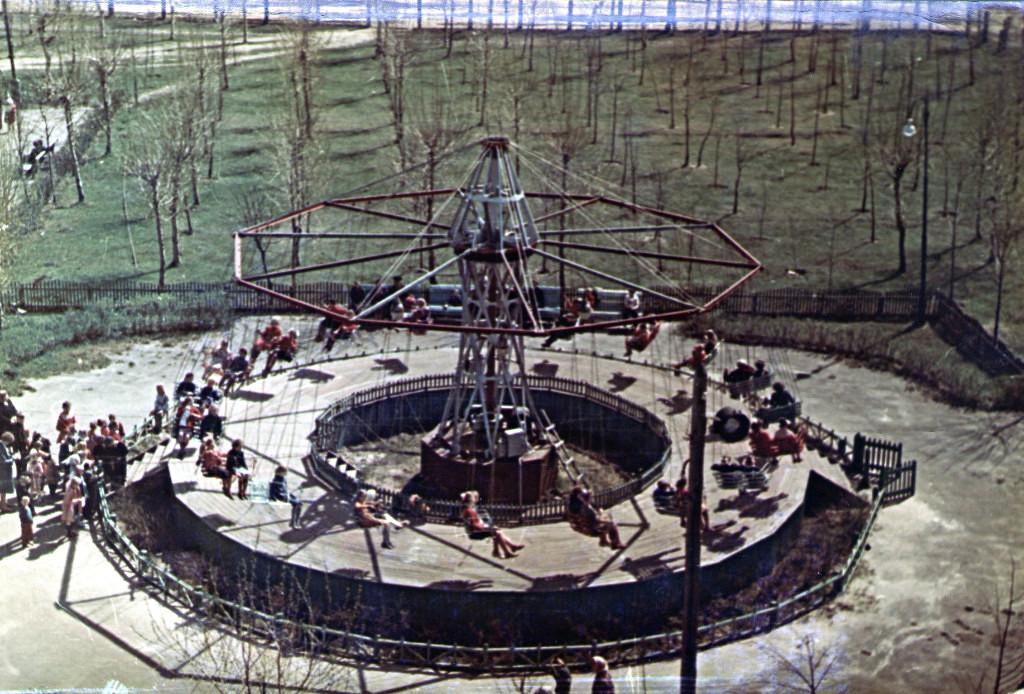 Парк культуры им. В.А.Дегтярёва. Вид с колеса обозрения.