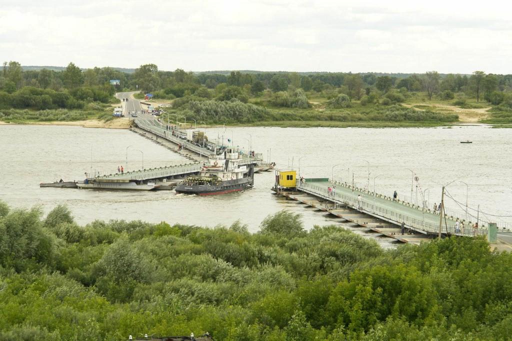 Понтонный мост в Муроме 01