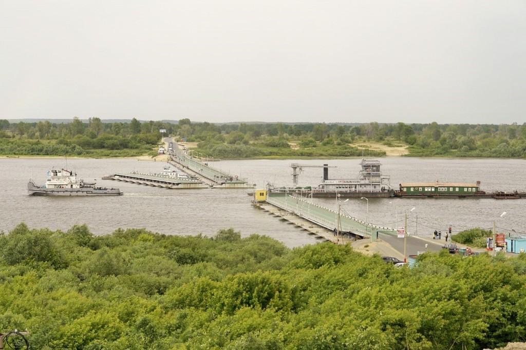 Понтонный мост в Муроме