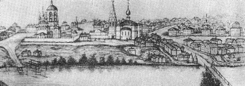 Слобода Мстера. Рис. И. А. Голышева, 1860 г.