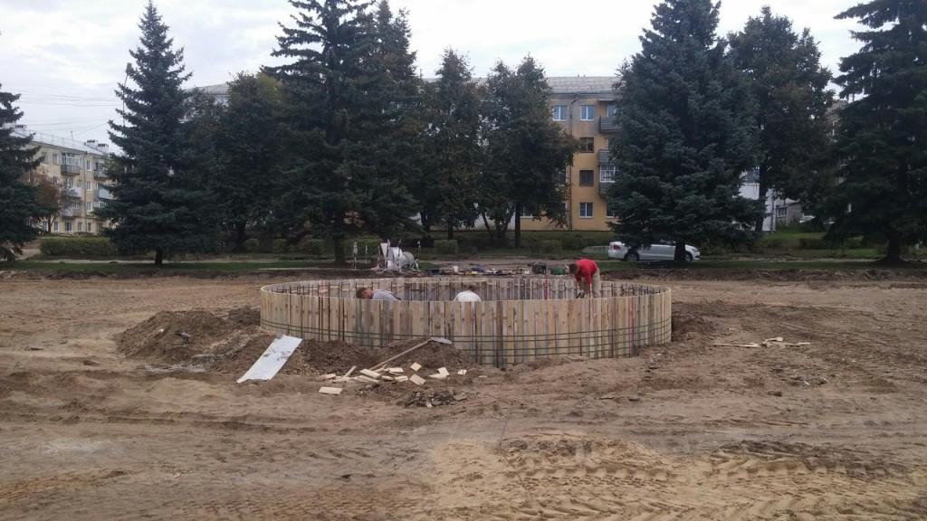 Работы по реконструкции Площади Прокуророва