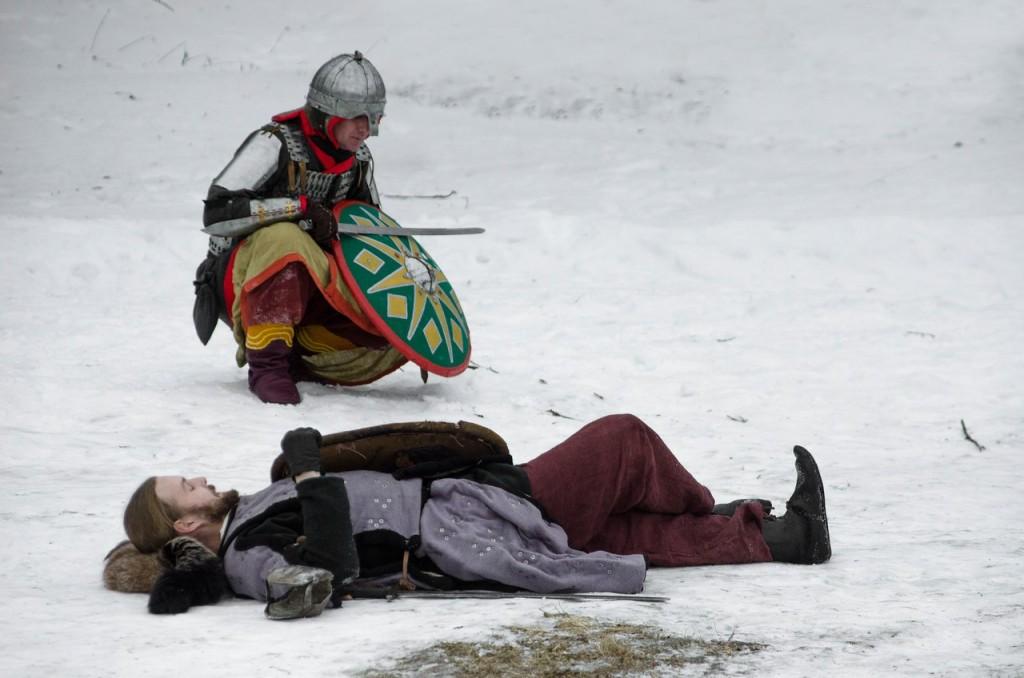 Реконструкция битвы татаро-монголов с русичами (ФОТО) 06