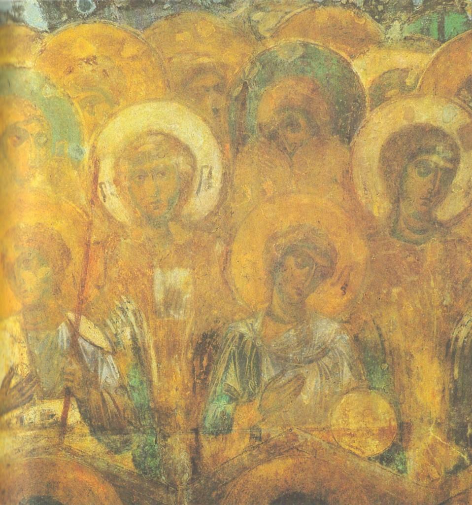 Ангелы, фрагмент композиции