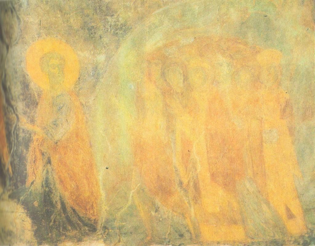 Владимирский мастер. Шествие праведных в рай Фреска на малом своде под хорами. Около 1195