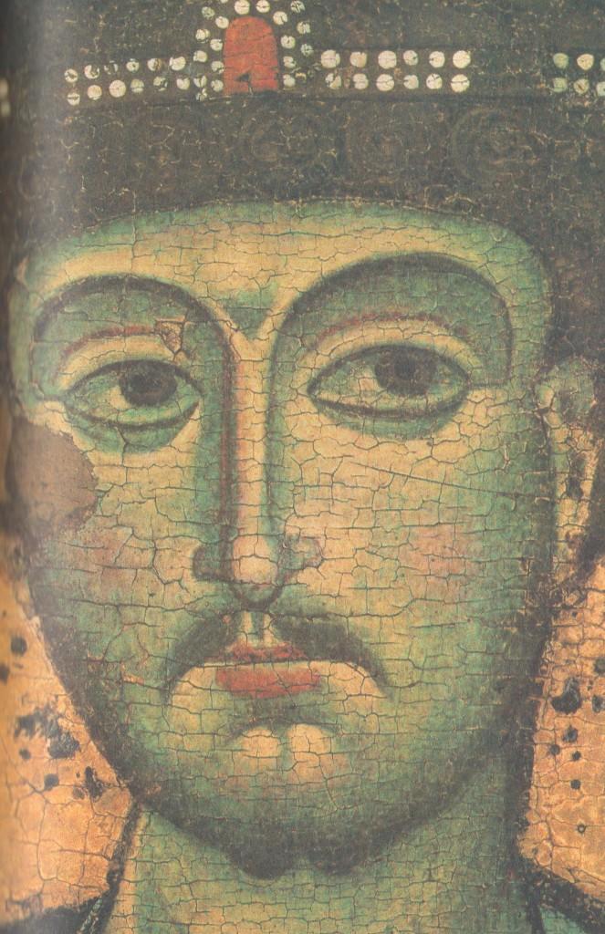 Голова Дмитрия Солунского - Деталь иконы