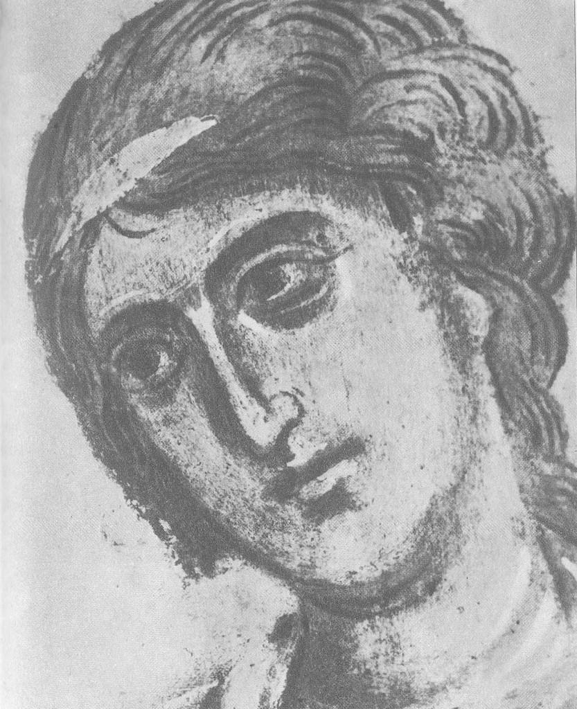 Голова ангела, смотрящего влево Фрагмент композиции
