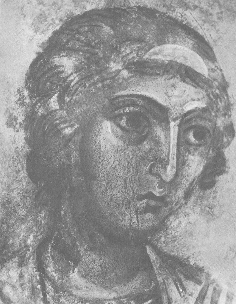 Голова ангела, смотрящего вправо Фрагмент композиции