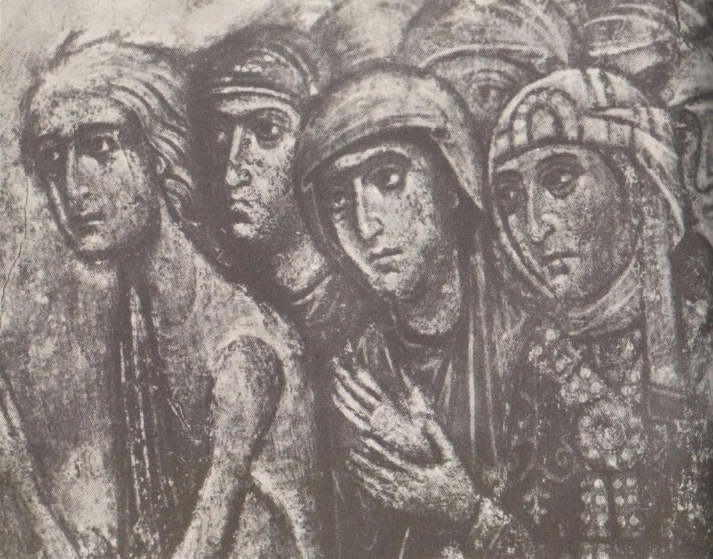 Головы праведных жен Фрагмент композиции «Шествие праведных в рай»