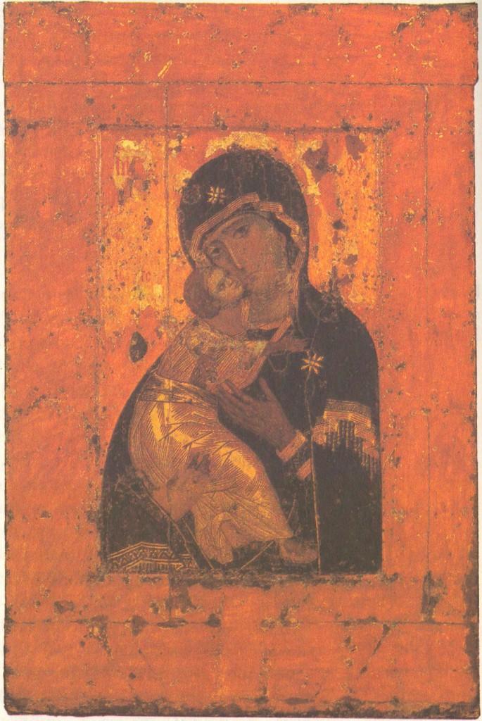 Константинопольский мастер. Богоматерь Владимирская. Первая половина XII века