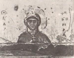 Святая Фотиния Деталь иконы «Николай Чудотворец», изображение на нижнем поле