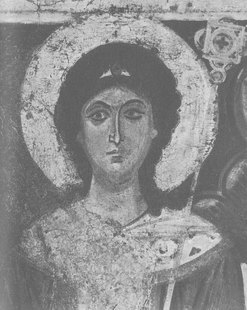 Голова архангела Гавриила. Деталь иконы