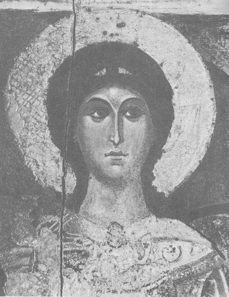 Голова архангела Михаила. Деталь иконы