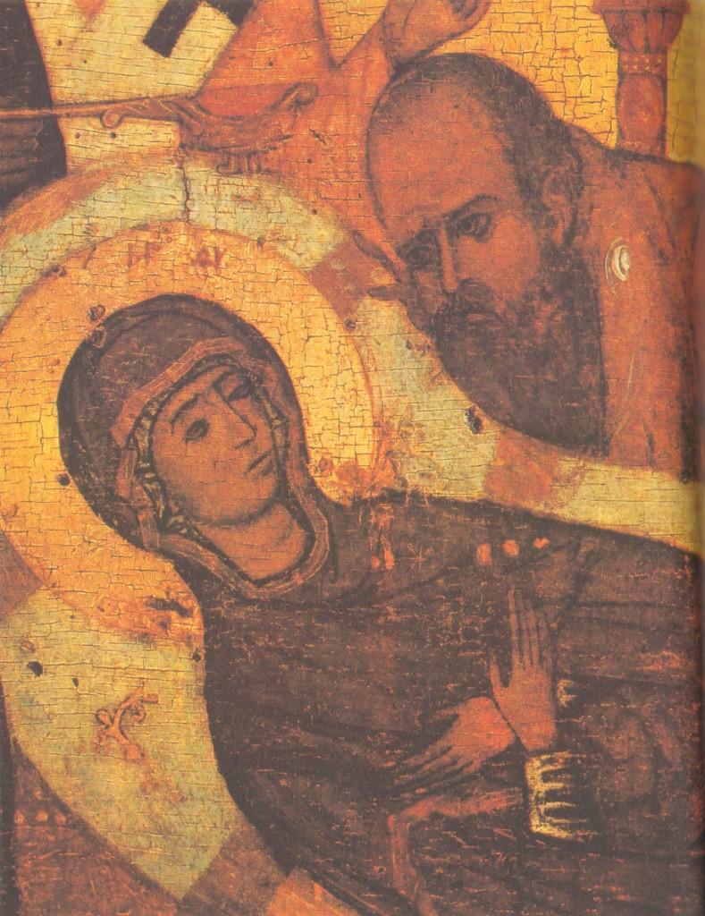Головы-Марии-и-Иоанна-Богослова-Деталь-иконы-«Успение-Богоматери»